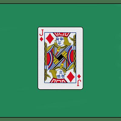 """Card Silk 18"""" (Jack of Diamonds) by Vincenzo Di Fatta"""