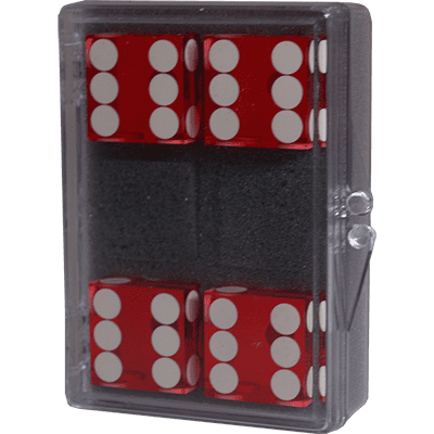 Dice 4-pack Red Near-precision 19mm (casino)