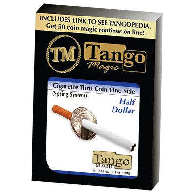 Cigarette Through Half Dollar (One Sided) (D0014)by Tango - Trick