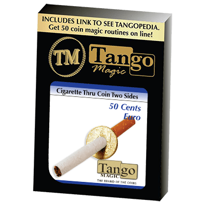 Cigarette Through (50 Cent Euro, Two Sided) () by Tango - Trick