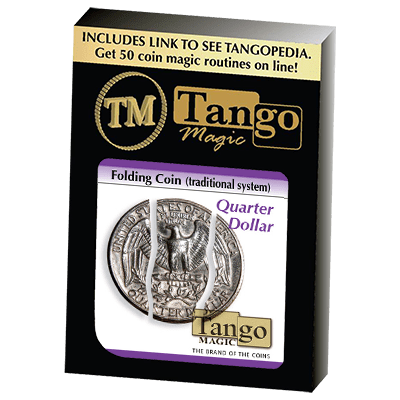 Folding Coin Quarter (D0021) (Traditional) by Tango Magic - Trick (D0021)