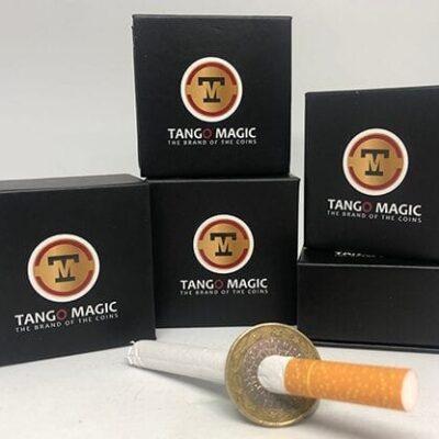 Cigarette Thru Coin Two Sides 1 Euro by Tango - Trick (E0063)