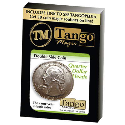 Double Side Quarter (Heads)(D0078) by Tango - Tricks