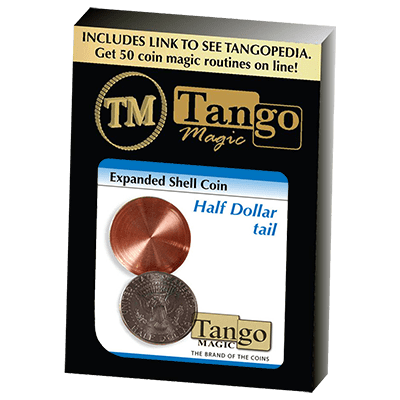 Expanded Shell Coin - Half Dollar (Tail)(D0002) by Tango - Trick