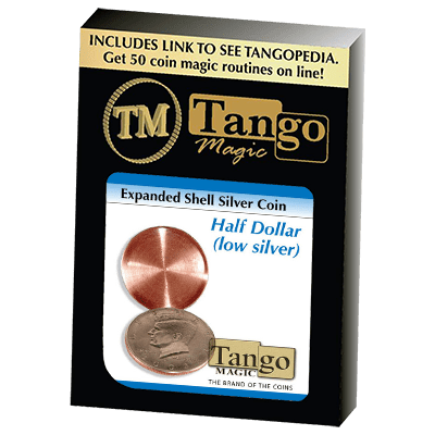 Expanded Shell Silver Half Dollar (D0003) by Tango - Trick