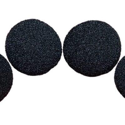 1.5 inch Regular Sponge Ball (Black) Pack of 4 from Magic by Gosh
