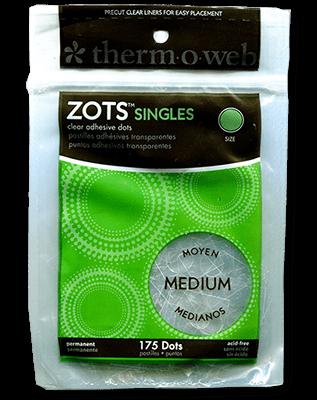 Sticky Dots Medium (175 dots 3/8 inch diameter) Bag of Singles