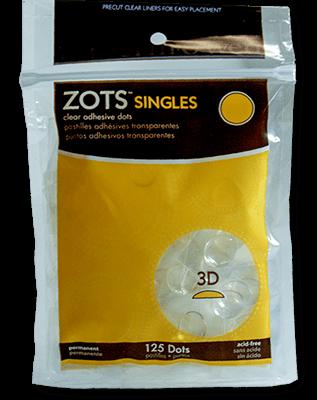 "Sticky Dots 3D (125 dots 1/2"" diameter) Bag of Singles"