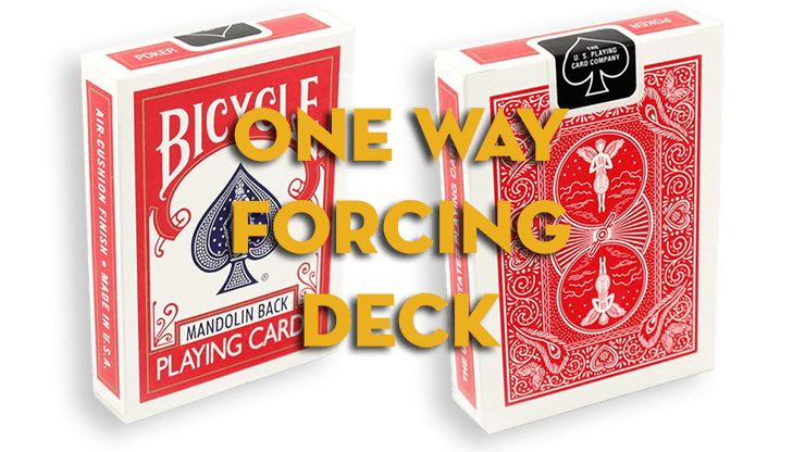 Assorted Mandolin Red One Way Forcing Deck (assorted values)