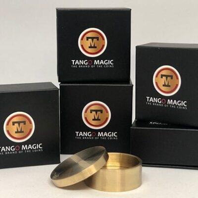Boston Coin Box (Brass One Dollar w/DVD)(B0029) by Tango Magic - Trick