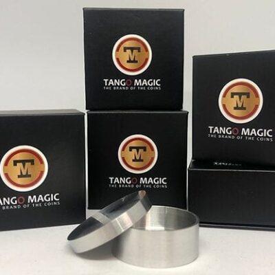 Okito Coin Box (Aluminum w/DVD)(A0026) One Dollar by Tango Magic - Tricks