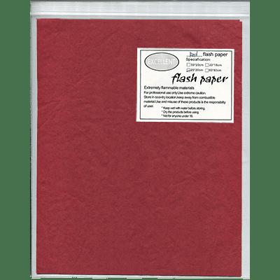 Flash Paper five pack(25x20cm) Red - Trick