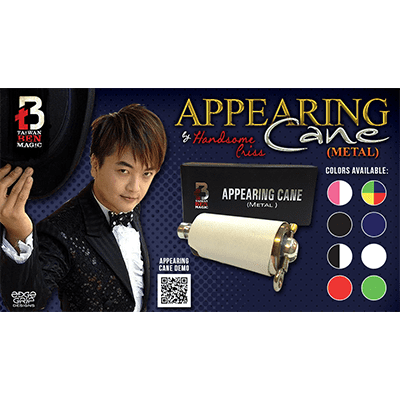 Appearing Cane (Metal / Black) by Handsome Criss Taiwan Ben Magic - Trick