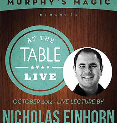 At the Table Live Lecture - Nicholas Einhorn 10/22/2014 - video DOWNLOAD