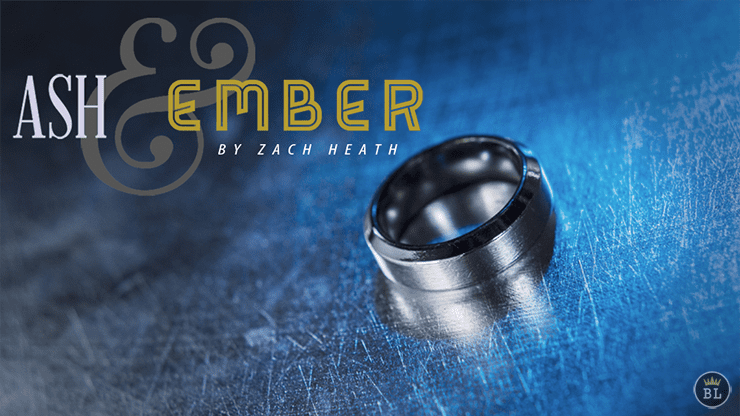 Ash and Ember Silver Beveled Size 7 (2 Rings) by Zach Heath - Trick