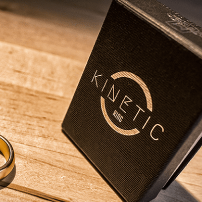 Kinetic PK Ring (Gold) Curved size 8 by Jim Trainer - Trick