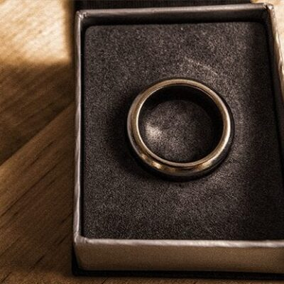 Kinetic PK Ring (Silver) Curved size 10 by Jim Trainer - Trick