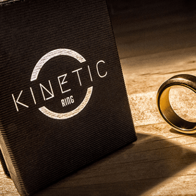 Kinetic PK Ring (Gold) Beveled size 8 by Jim Trainer - Trick