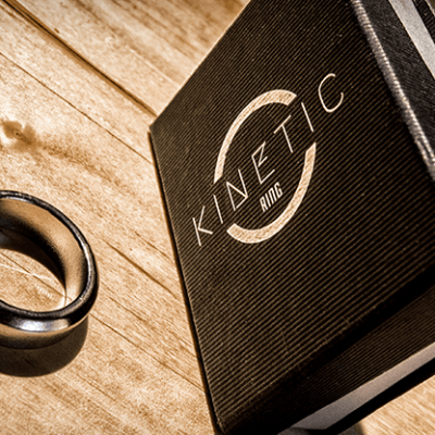 Kinetic PK Ring (Silver) Beveled size 9 by Jim Trainer - Trick