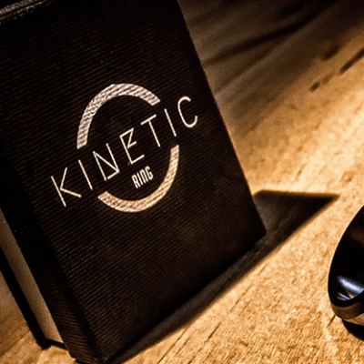 Kinetic PK Ring (Black) Beveled size 9 by Jim Trainer - Trick