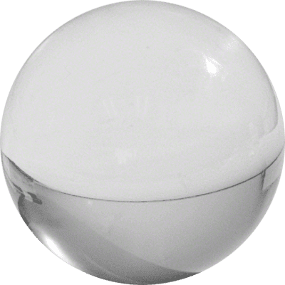 Contact Juggling Ball (Acrylic, CLEAR, 70mm) - Trick