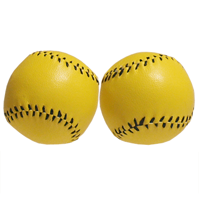 Chop Cup Balls Yellow Leather (Set of 2) by Leo Smetsers - Trick