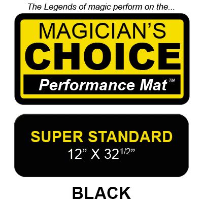 Bartender's Choice Close-Up Mat (BLACK Super Standard - 12x32.5) by Ronjo - Trick