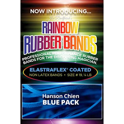 Joe Rindfleisch's Rainbow Rubber Bands (Hanson Chien - Blue Pack) by Joe Rindfleisch - Trick
