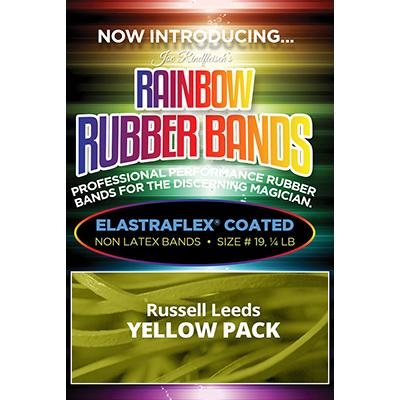 Joe Rindfleisch's Rainbow Rubber Bands (Russell Leeds -Yellow ) by Joe Rindfleisch - Trick