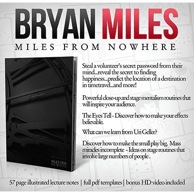 Miles from Nowhere Lecture Notes (with Bonus Tricks Online) by Bryan Miles - eBook