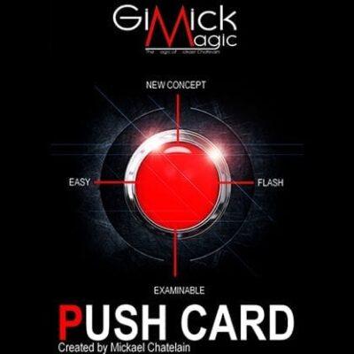 PUSH CARD (English) by Mickael Chatelain  - Trick