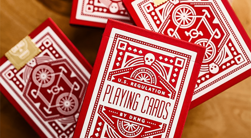 DKNG (Red Wheel) Playing Cards by Art of Play