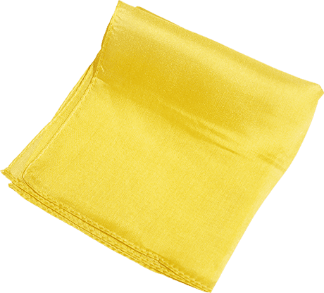 Silk 6 inch (Yellow) Magic By Gosh - Trick