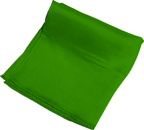 Silk 6 inch (Green) Magic By Gosh - Trick