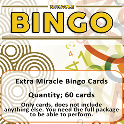 Extra Cards (60 cards) for Miracle Bingo by Doruk Ulgen - Trick