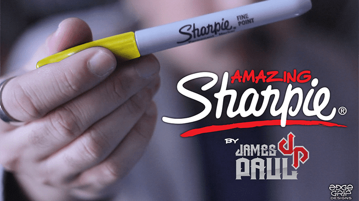 Amazing Sharpie Pen (Yellow) by James Paul - Trick