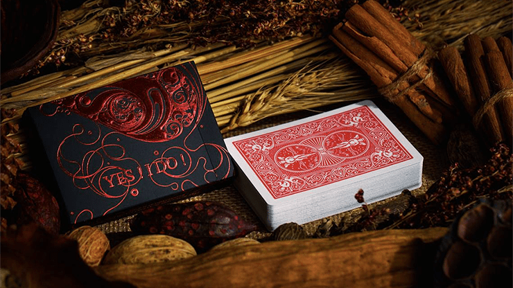 Love Promise of Vow (Red) Playing Cards by The Bocopo Playing Card Company