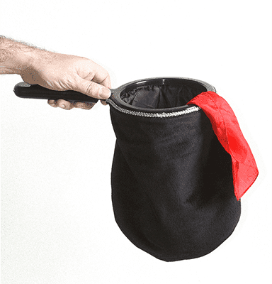 Change Bag Velvet REPEAT WITH ZIPPER (Black) by Bazar de Magia - Tricks