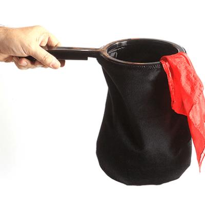 Change Bag Velvet REPEAT WITH ZIPPER (All Black) by Bazar de Magia - Tricks