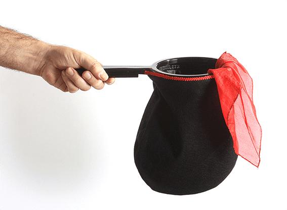 Change Bag Standard REPEAT WITH ZIPPER (Black) by Bazar de Magia - Tricks