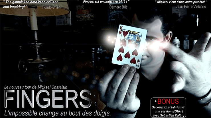 Fingers (Blue) by Mickael Chatelin - Trick
