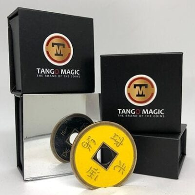Dollar Size Chinese Coin (Black and Yellow) by Tango (CH035)