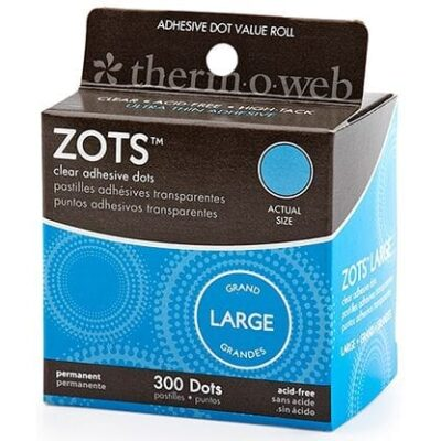 Sticky Dots Large (1/2 inch Diameter) Roll of 300