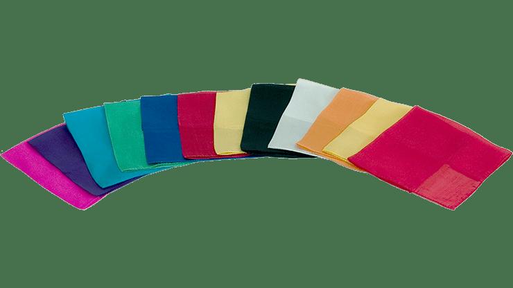 Silks 15 inch 12 Pack (Assorted) Magic by Gosh - Trick