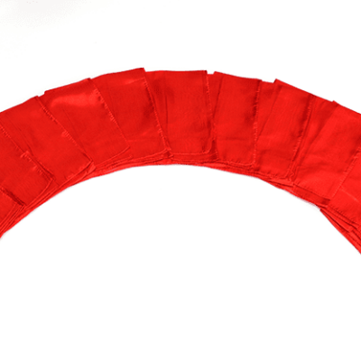 Silks 15 inch 12 Pack (Red) Magic by Gosh - Trick  (12 PACK IS 1 UNIT)