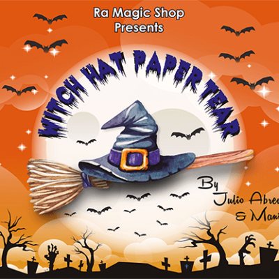 Witch Hat Paper Tear (12 pack) by Ra Magic - Trick