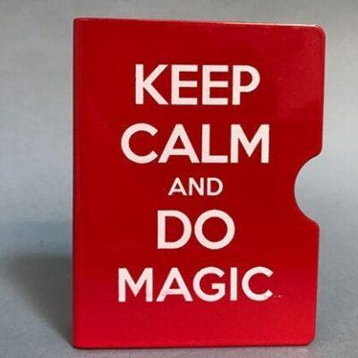 Keep Calm and Do Magic Card Guard (Red) by Bazar de Magia