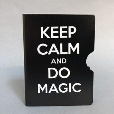 Keep Calm and Do Magic Card Guard (Black) by Bazar de Magia
