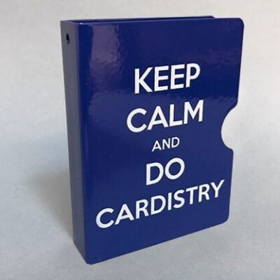 Keep Calm and Do Cardistry Card Guard (Blue) by Bazar de Magia