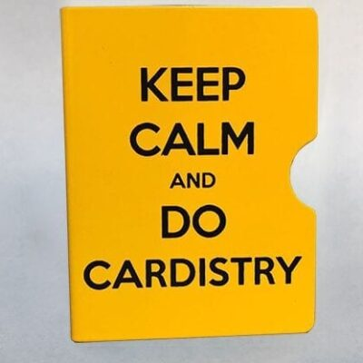 Keep Calm and Do Cardistry Card Guard (Yellow) by Bazar de Magia